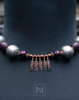 Silver-brown-necklace