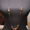 Brown long chain necklace