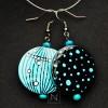 Creative blue earrings
