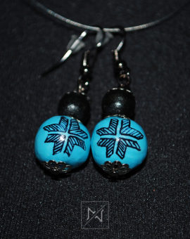 Earrings with traditional folk motif-Venus