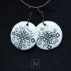 Handmade earrings with romanian embroidery motif