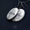Handmade earrings with romanian embroidery motif-profile