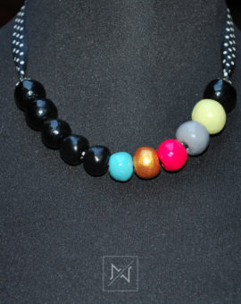Necklace - black and colors