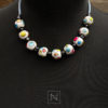 Necklace with colorful and cheerful motif
